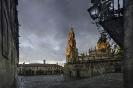 Santiago de Compostela: catedral e praza da Quintana.