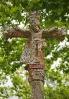 Cruceiro da capela de Caeiro en Santa Mariña de Barcala.