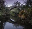 Ponte medieval sobre o río Liñares.
