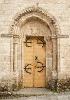 Porta da igrexa de San Salvador de Sarria.