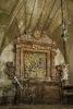 Retablo co milagre de Santo Ildefonso na capela da Casa da Algaria de Guimarei.